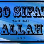 Sifat 20 Bagi Allah ( Sifat Ketuhanan )