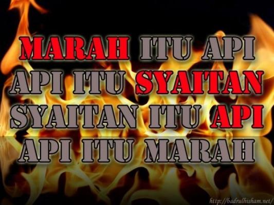 marah syaitan api