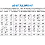 Fadilat Dan Kelebihan Asmaul Husna – 99 Nama Allah