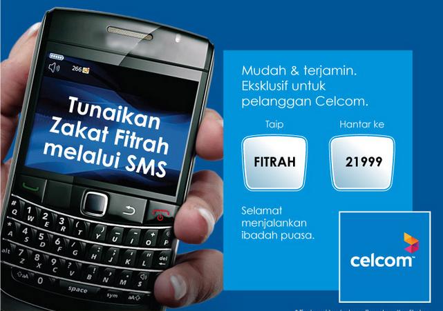 zakat Bayar Zakat Fitrah Guna SMS