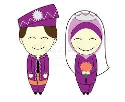 Image result for gambar kartun berkahwin