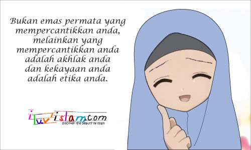 contoh akhlak baik, akhlak mulim, akhlak muslimah